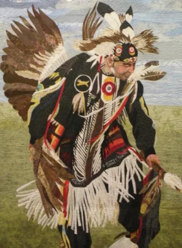 quilt winner dancing at the powwow san fernando valley quilt association